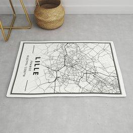 Lille Light City Map Rug