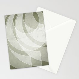 Orbiting Lace in Sage Green Tones Stationery Cards