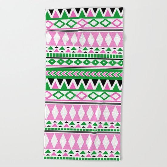 Tribal Pattern 07 Beach Towel