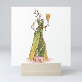 Pride - Skeleton - Seven sins Mini Art Print