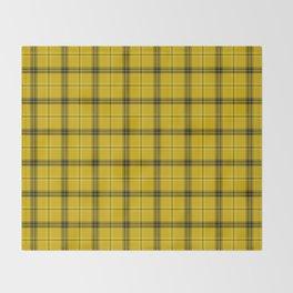 Yellow buffalo plaid Throw Blanket