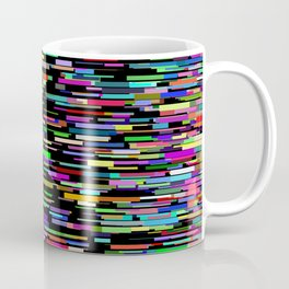 rainbow bars zooming across black space Coffee Mug