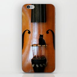 Black Cat And Violin #decor #society6 iPhone Skin