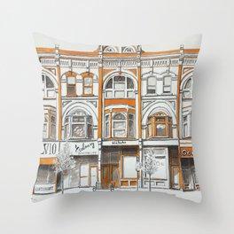 Queen Street Arcade Toronto Throw Pillow