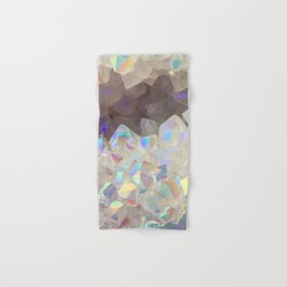 Iridescent Aura Crystals Hand & Bath Towel