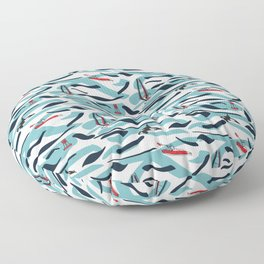 A Day on the Water Floor Pillow