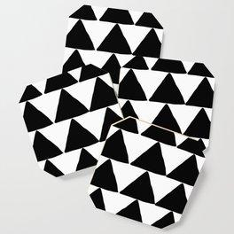 Mountains - Black and White Triangles Coaster