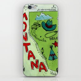 MONTANA map iPhone Skin