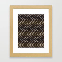 Bone Chevron Framed Art Print