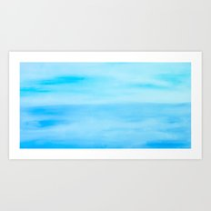 Where the Ocean Meets the Sky Art Print