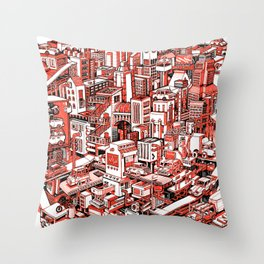 City Machine Throw Pillow