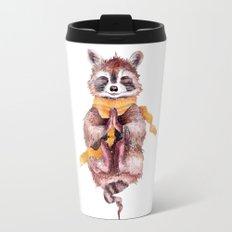 Raccoon buddha Travel Mug