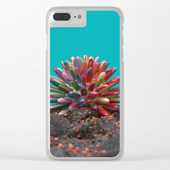Simple Coral Clear iPhone Case