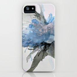 Ink Flower Blue iPhone Case