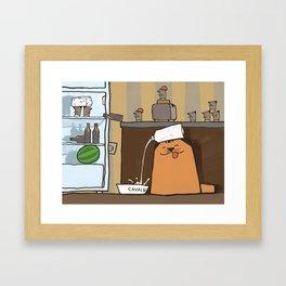Cavaldi raiding the fridge Framed Art Print