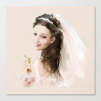 bride Canvas Prints featuring bride by tatiana-teni