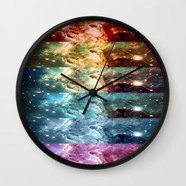 Rainbow Nebula Panel Art : Monkey Head Nebula Wall Clock