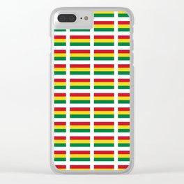 flag of bolivia 2 -bolivian,boliviano,bolivian,Sucre, La Paz. Clear iPhone Case