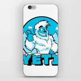 Smiling cartoon yeti iPhone Skin