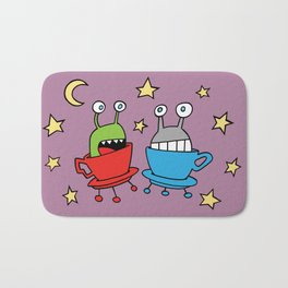 Space MiniMonsters Bath Mat