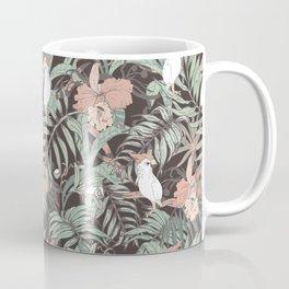 Exotic birds in the dark of the jungle Coffee Mug