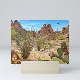 Desert wildlife Mini Art Print