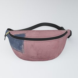 Pink coral blue abstract  Fanny Pack