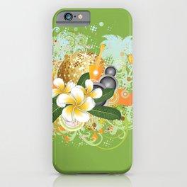 Beach party design iPhone Case