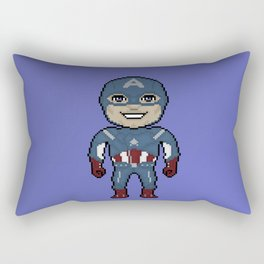 Pixelated Heroes Capt. America Super Hero Rectangular Pillow