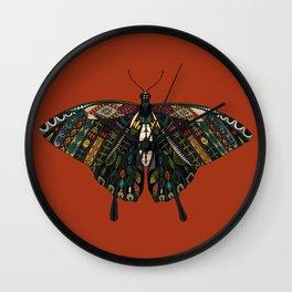 swallowtail butterfly terracotta Wall Clock