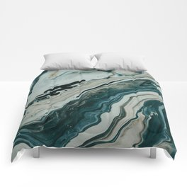 Tranquil Arctic Painting Marble Comforters