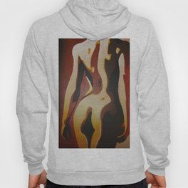 Back View Of A Nude Woman Hoody