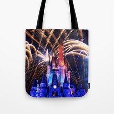 Walt Disney World Christmas Eve Fireworks Tote Bag
