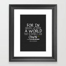 Dumbleism - Dumbledore Quote 3 Framed Art Print