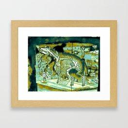 Interior Skeleton Framed Art Print