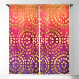 Summer Heat Geometric Pattern Blackout Curtain