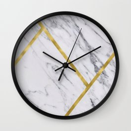 Golden classic marble Wall Clock