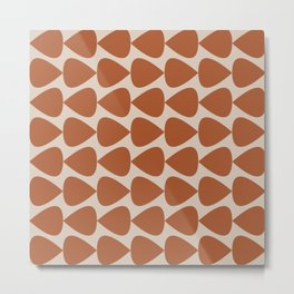 Plectrum Pattern in Clay and Putty  Metal Print