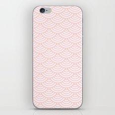 Pink Coral Mermaid Scales iPhone Skin