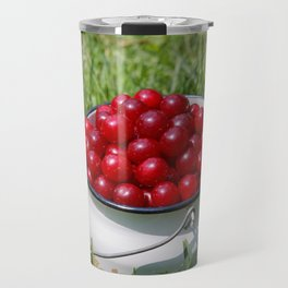 Prunus cerasus sour cherry fruits Travel Mug