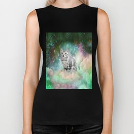 Purrsia Kitty Cat in the Emerald Nebula of Innocence Biker Tank