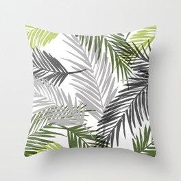 Palm tree leaf Throw Pillow