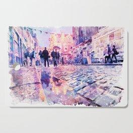 Dublin Watercolor Streetscape Cutting Board