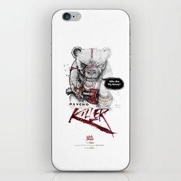 Ps*cho Killer bear iPhone Skin