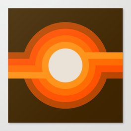 Golden Sunspot Canvas Print