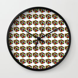 pattern rubik cube game puzzle Wall Clock