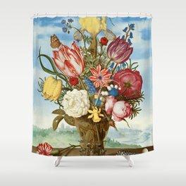 "Ambrosius Bosschaert ""Bouquet of Flowers on a Ledge"" Shower Curtain"
