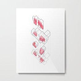 Exploded Axo Metal Print