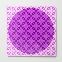 Flower Of Life Pink & Purple Metal Print