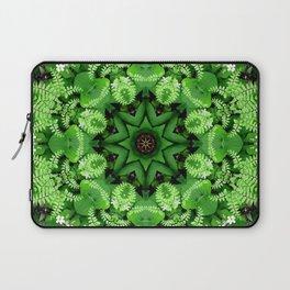 Fern and friends kaleidoscope, mandala - Maidenhair, Adiantum 901 k21 3 Laptop Sleeve